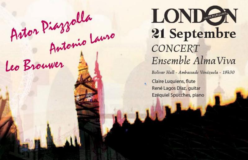 Concert à Londres Ensemble Alma Viva