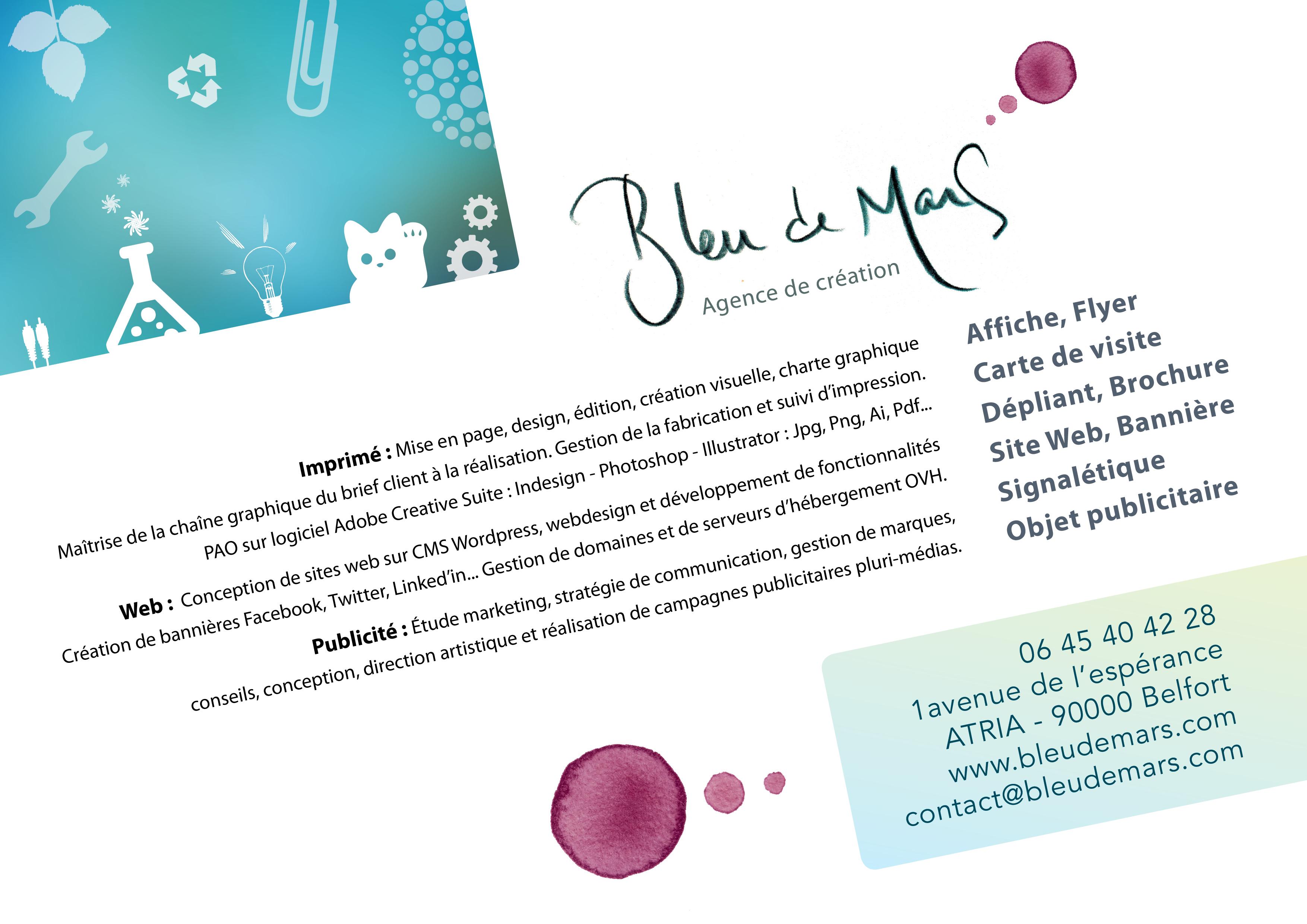 Bleu De Mars Offre Service Graphiste Infographiste Belfort