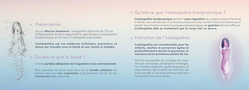 Préférence Carte de visite et dépliant pour une praticienne en Ostéopathie KX81