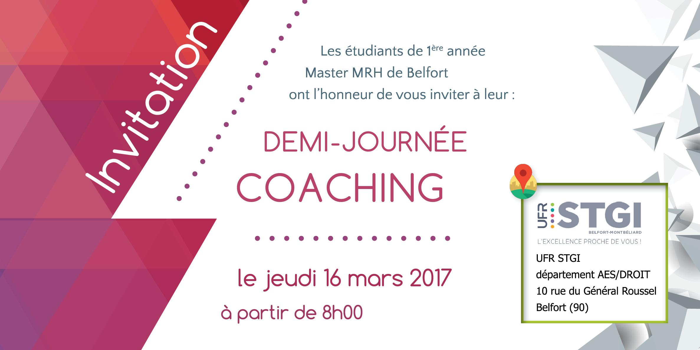 Carton d'invitation Université de Franche Comté