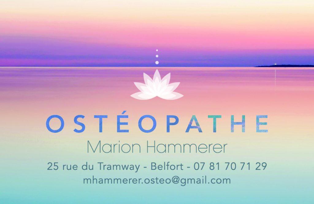 Exceptionnel Carte de visite et dépliant pour une praticienne en Ostéopathie IG11