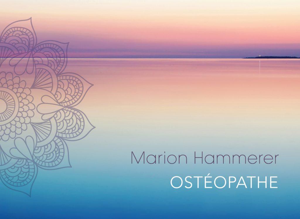 Super Carte de visite et dépliant pour une praticienne en Ostéopathie QB73