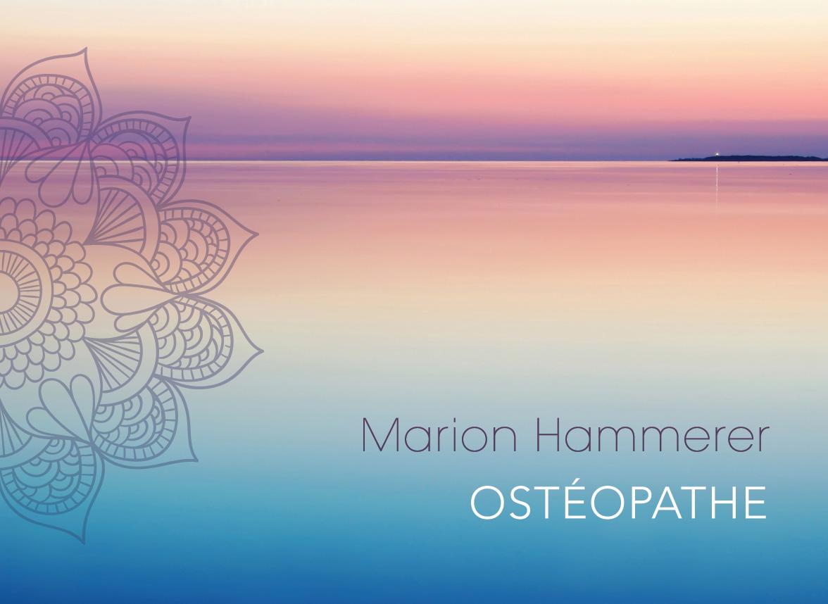 Carte de visite et dépliant pour une praticienne en Ostéopathie